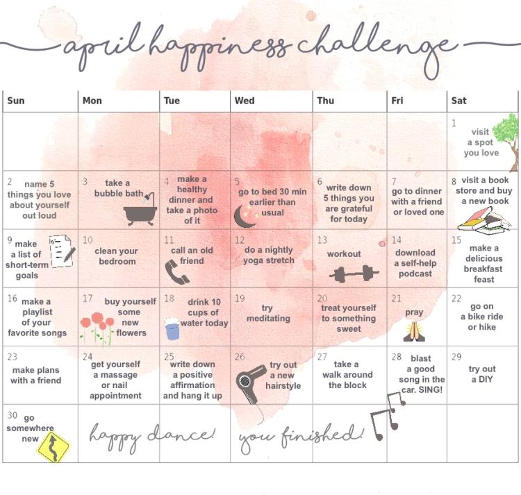 april happiness challenge copy